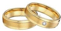 Мужского покроя желтый цвет золотистый медико хирургической titanium стали обручальные кольца наборы для пар мужские и женские