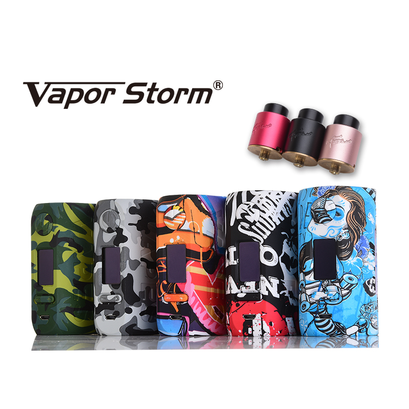 Vapor Storm Storm230 Bypass 200W VW TC Box Mod Vapes Support Dual 18650 Battery Electronic Cigarette RDA RBA RDTA Atomizer Ciga voopoo drag 157w tc box mod