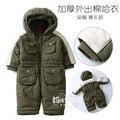 Nuevo 2016 otoño invierno ropa para recién nacidos monos del bebé mamelucos de algodón niños bebé chaqueta trajes de abrigo de niños de la capa