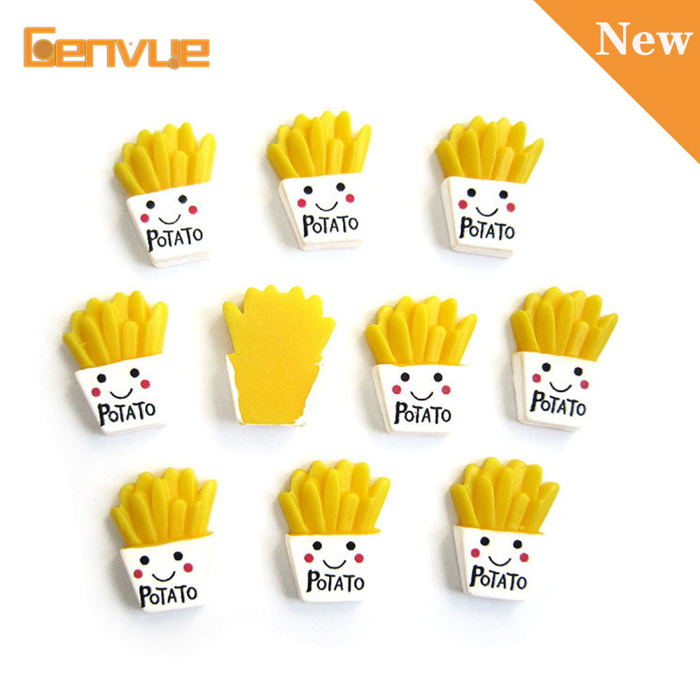 10Pcs French Fries Addition For Slime Charms Model Polymer Filler Slime Lizun DIY Kit Decor Slime Accessories For Child Gift
