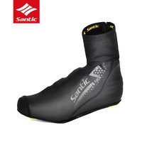Santic Winter Fleece Cycling Shoes Cover MTB Road Bike Shoes Cover Windproof Dustproof Shoes Cover Outdoor Bicycle Overshoes