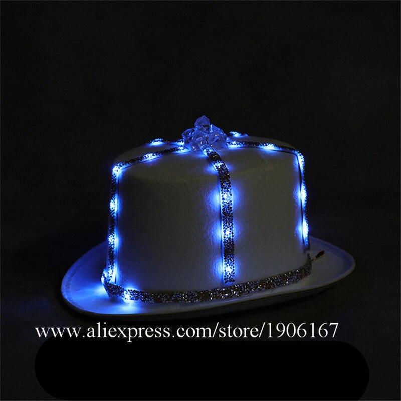 Led light hat music festival nightclub bar light stage props birthday gift05
