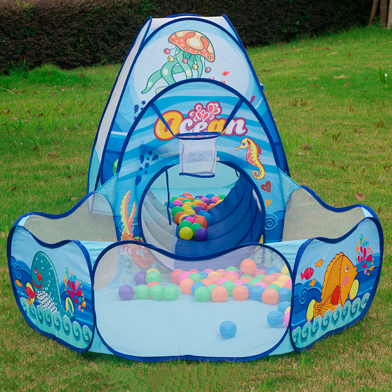 Folding-Kids-Pool-Tube-Teepee-Toy-Tents-Pop-up-Baby-Crawling-Tunnel-Huge-Game-Yard-Ocean