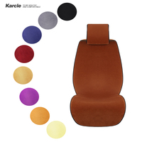 Karcle 1PCS Sheepskin Fur Car Seat Covers for Winter Vehicles Seat Protector Healthy Wool Cushion Car styling Auto Accessories