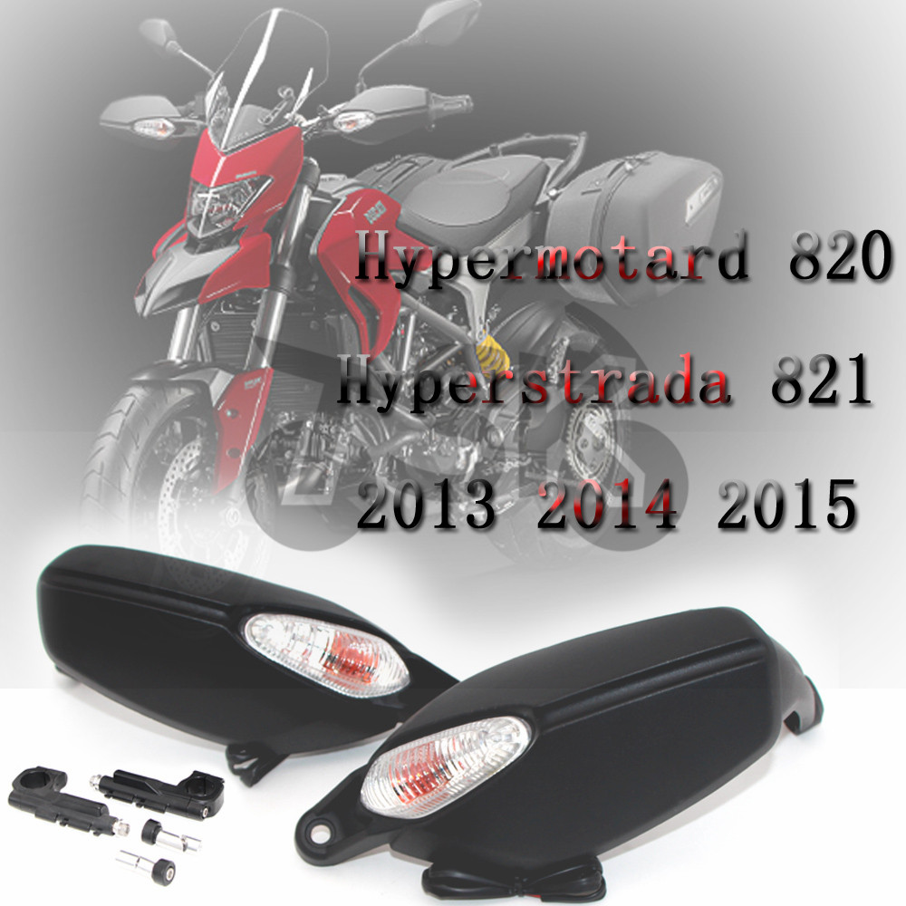 For DUCATI Hypermotard 820 Hyperstrada 821 2013 2015 Brake Clutch Side Handlebar HandGuard Protector with Turn