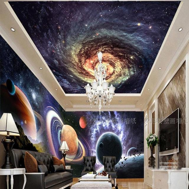 The Living Room With Sky Bar Old Dresser In 3d Photo Wallpaper Ktv Ceiling Theme Background Mural