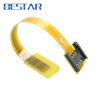 GSM CDMA Standard UIM SIM Card Kit Male To Female Extension Soft Flat FPC Cable Extender
