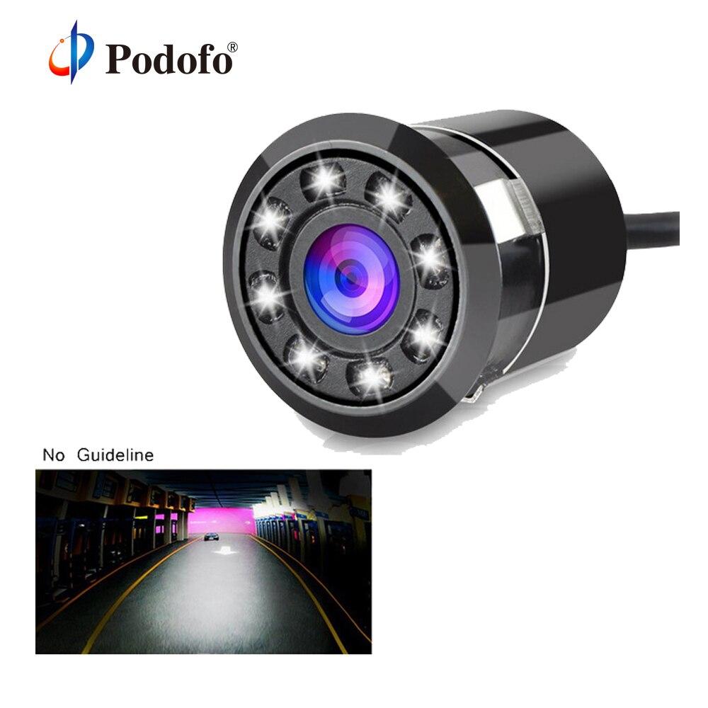 все цены на Podofo Waterproof Car Backup Camera HD Color CCD Rear View Camera 8 LED Night Vision 170 Degree Parking System (No Guide Line) онлайн