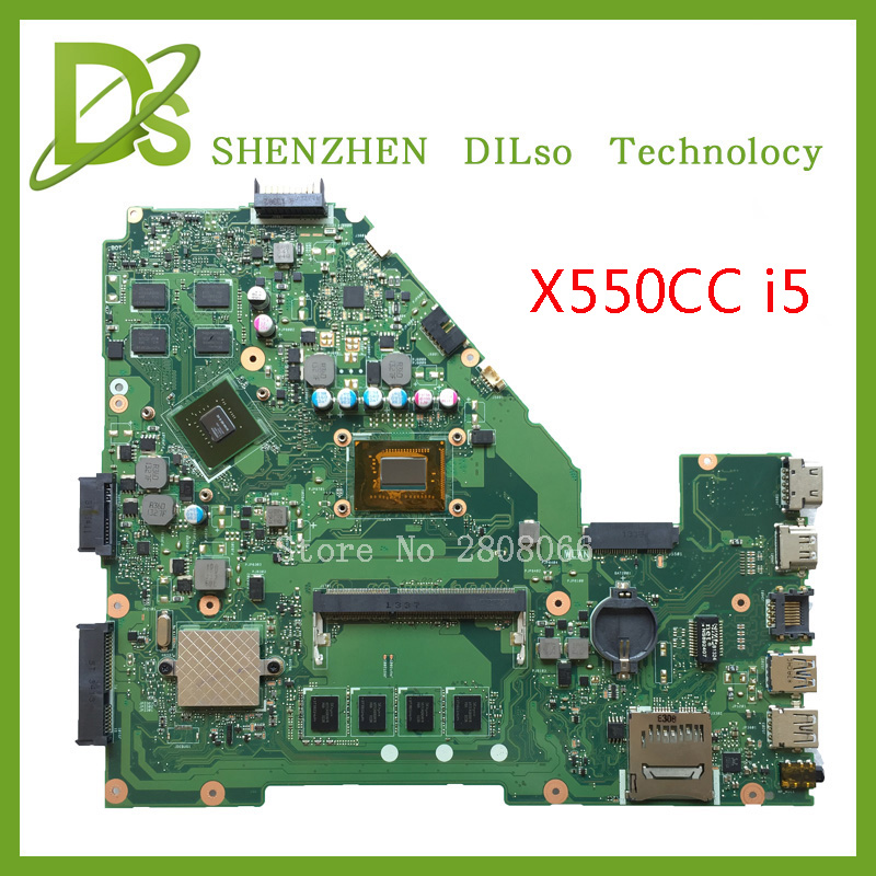 For ASUS X550CC X550CL Laptop motherboard X550CC mainboard REV2.0 with graphics card i5 cpu onboard freeshipping 100% tested for asus x550cc x550cl laptop motherboard x550cc mainboard rev2 0 with graphics card i3 cpu onboard freeshipping 100