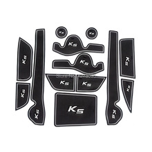 For 2011-2014 2015 Kia K5 Car Gate Slot Pad Non-slip Cup Mats Anti Slip Door Groove Mat Sticker Interior Car Styling Accessories