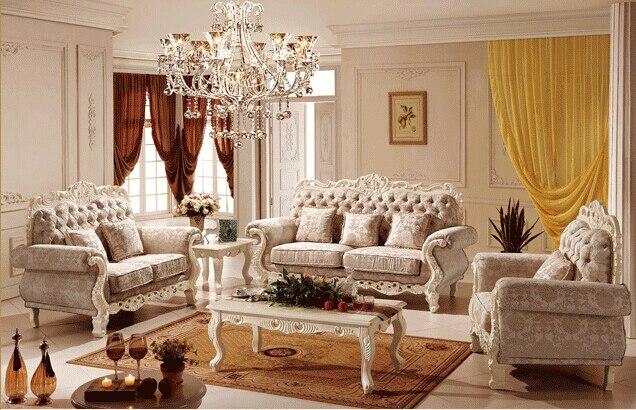 Antique Europäischen Art Hause Sofa Set Bild Möbel Klassischen Wohnmöbel 0409 Hell Und Durchscheinend Im Aussehen