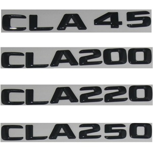 Image 2 - 3D 광택 블랙 C117 CLA 자동차 엠 블 럼 CLA45 CLA180 CLA200 CLA220 CLA250 엠 블 럼 배지 스티커 자동 터보 로고 메르세데스 벤츠 AMG