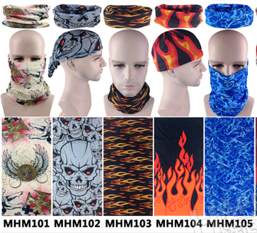 New 2018 Magic Bandanas 50pcs/lot Seamless Bandanas Washouts Ride Mask Bicycle Magic Scarf For Men Cycling Bike Sport Headband Beautiful And Charming Apparel Accessories