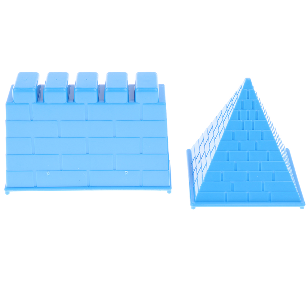 6pcs Blue Sand Castle Molds Building Sandcastle Beach Kids Fun Activity Toys