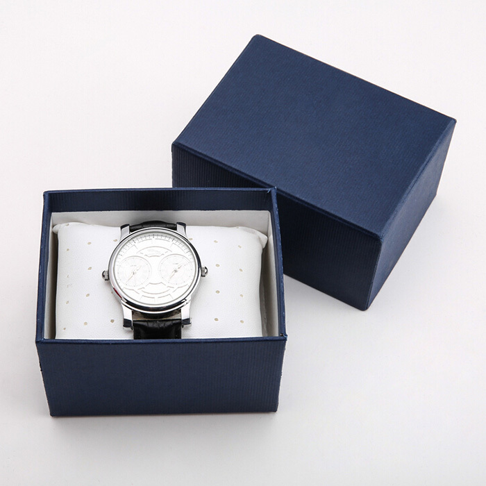Fashion blue black paper watch box jewelry bangle package bangle box wristwatch collocation gift for Watches box