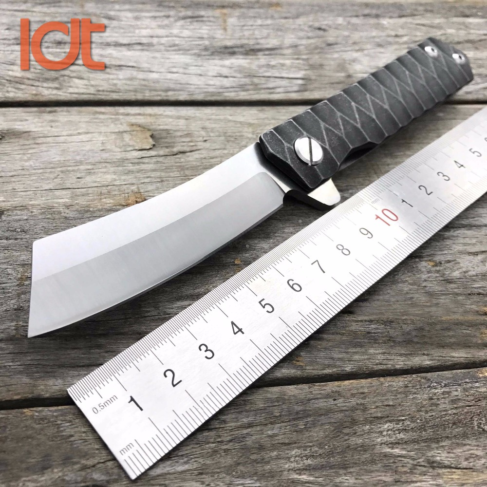 LDT Twosun Folding Knife D2 Blade Steel Handle Tanto Ball Bearing Camping Tools Tactical Pocket Hunting Survival Outdoor Knives  цены