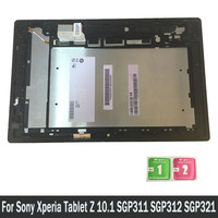 LCD Display For Sony Xperia Tablet Z 10.1 SGP311 SGP312 SGP321 Touch Screen Digitizer Sensors Assembly Panel With Frame