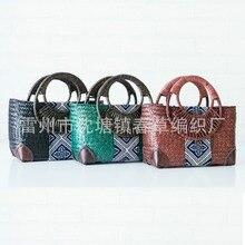 2017 новый Тайский версия мешок соломы женская сумочка ретро моды ручной ротанга трава пакет путешествия пляжная сумка