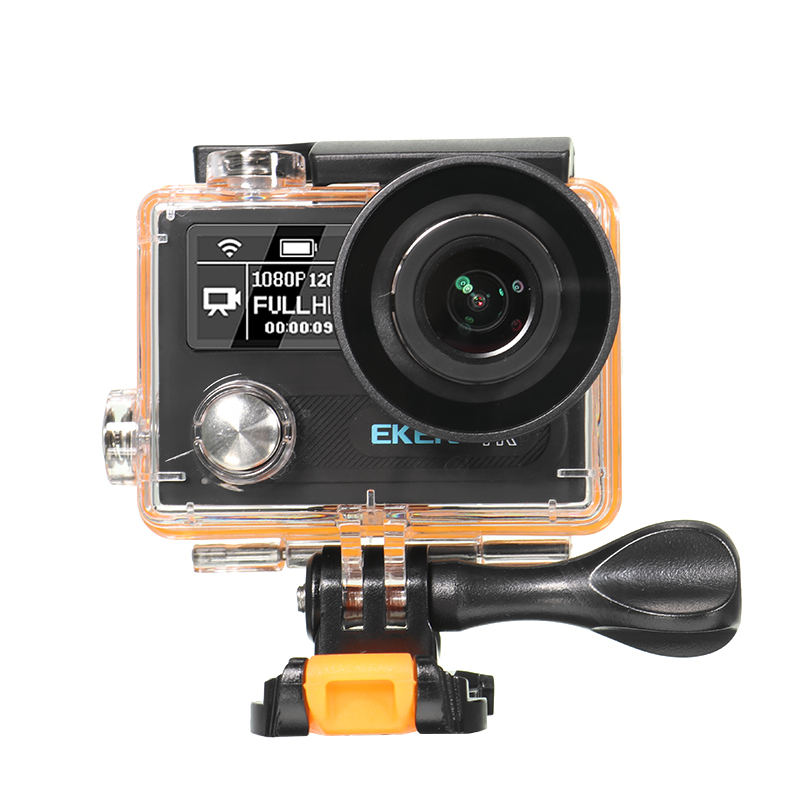 EKEN H8R Sport Action Camera DV VR 4K Ultra HD Dual Screen WiFi 2.4G Controller LCD Waterproof Helment Cam Black Silver Gold action camera ultra hd 4 k 30fps wifi sport cameres original eken h8 h8r 2 0 170d dual len underwater waterproof helmet cam