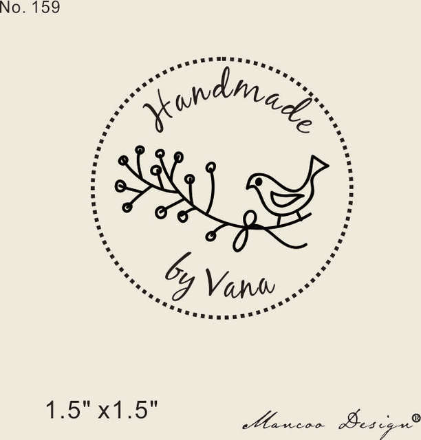 Online Shop Free Shipping Custom Logo Olive Branch Pigeon Stamp 15 X15 Personalized Rubber Handmade By