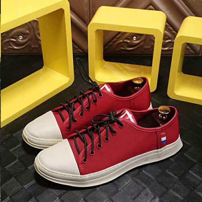 2019 nuovi Uomini di modo Vulcanize Scarpe casuali del cuoio genuino della mucca classico nero bianco scarpe uomo piattaforma scarpe per gli uomini size 38 45 - 3