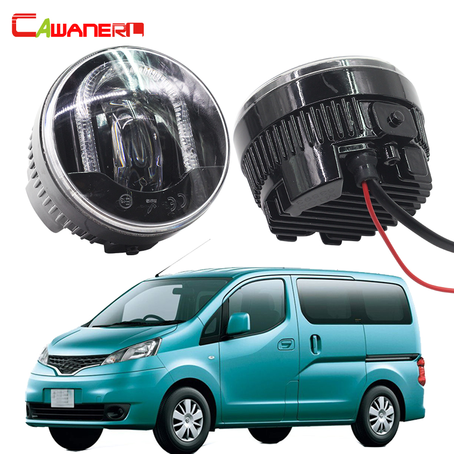 Cawanerl 2 Pieces Car Styling LED Front Fog Light DRL Daytime Running Lamp For Nissan NV200 M20 M20M 2010-