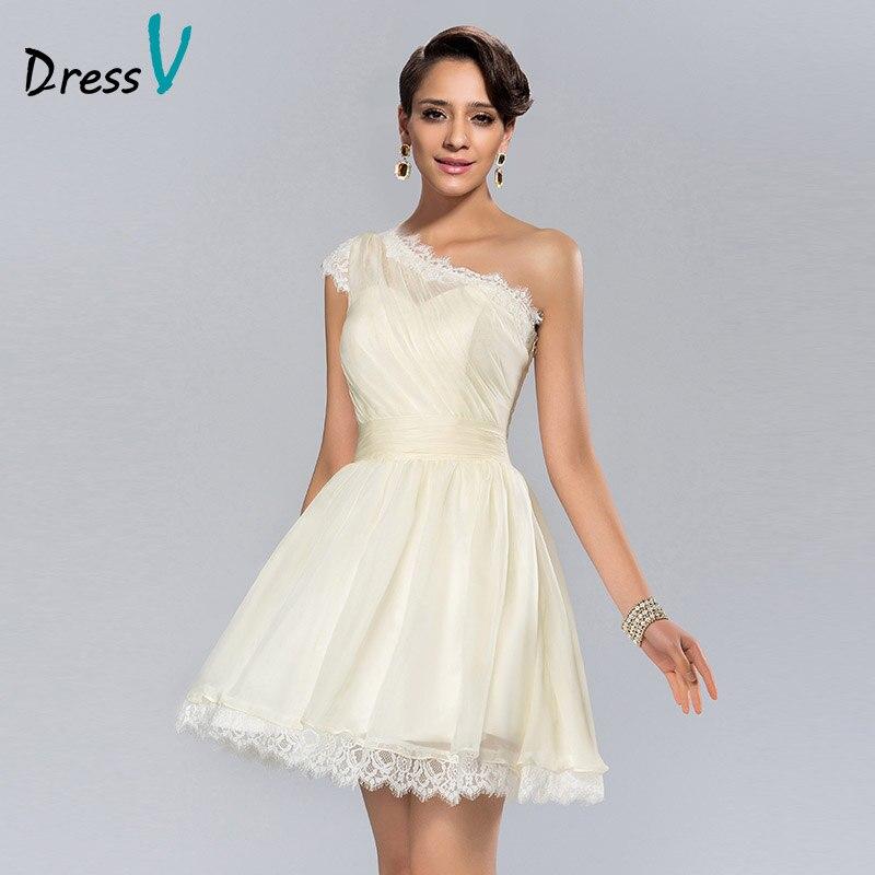 Short White Wedding Party Dresses Cocktail Dresses A Line
