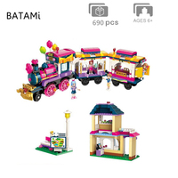 Model building kit Compatible with Lego train girl friends Move Maersk Train Railway Station Traffic 690 pcs Brick minfigure toy