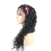 Eseewigs Deep Wave Full Lace Human Hair Wigs African American Remy Human Hair Full Wigs Pre Plucked Baby Hair Around Wavy Wig