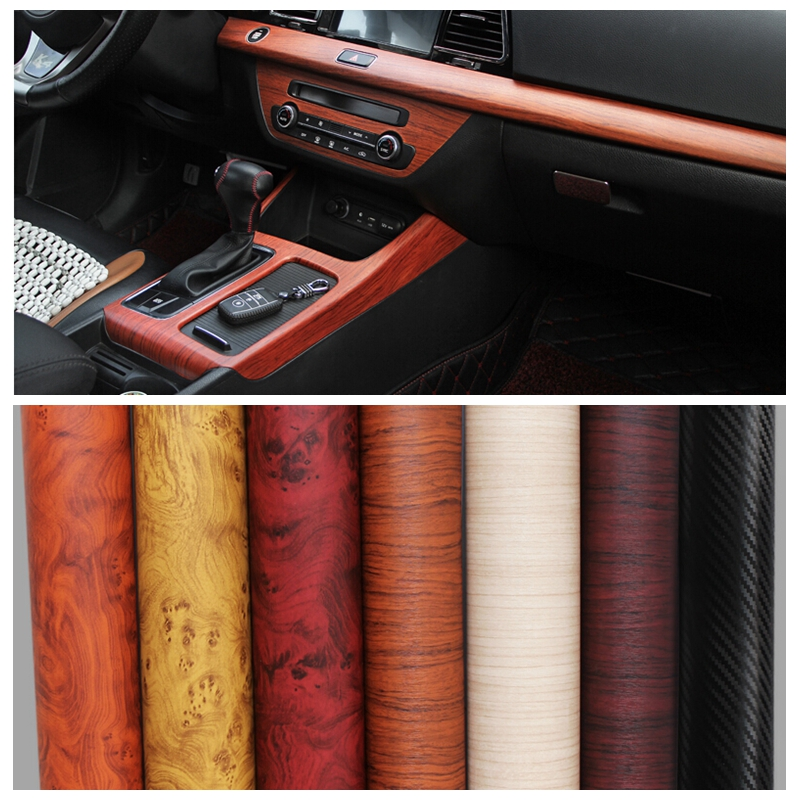 30x100cm car body stickers wood grain premium vinyl roll film interior decoration for bmw. Black Bedroom Furniture Sets. Home Design Ideas