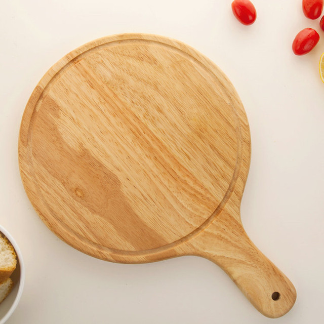 Eco-Friendly Wooden Pizza Pad with Handle Natural Wood Pizza Peel Pizza Stones Sushi/ & Eco Friendly Wooden Pizza Pad with Handle Natural Wood Pizza Peel ...