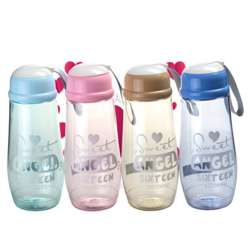 Creative Brief Sport Water Bottle With Rope Leak Proof High Quality Hiking Outdoor Portable BPA Free 500ml/600ml