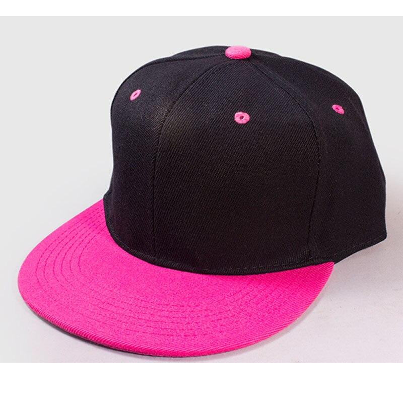 20 pièces adulte Hip hop Snapback Patchwork personnalisé casquette de Baseball LOGO broderie bonbon-couleur soleil casquette pointe chapeau casquettes personnalisées