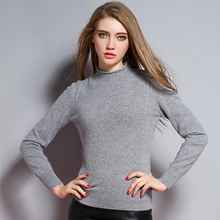 2017 New Fashion Half height Collar Wood Ear Twisted Flower Pullover Cashmere Sweater Women Slim Knitted
