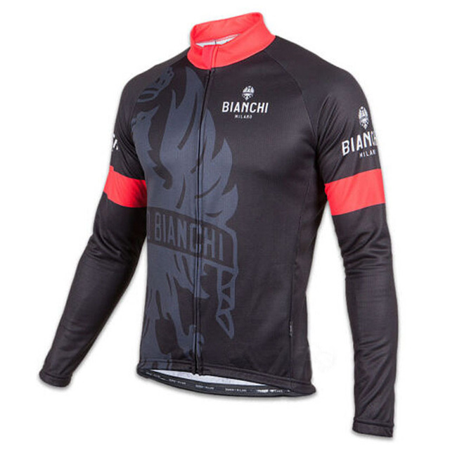 daf5a3be00e High quality BIANCHI Milano LEGGENDA SORISOLE pro men s thin black red  green long sleeve jersey cycling clothing