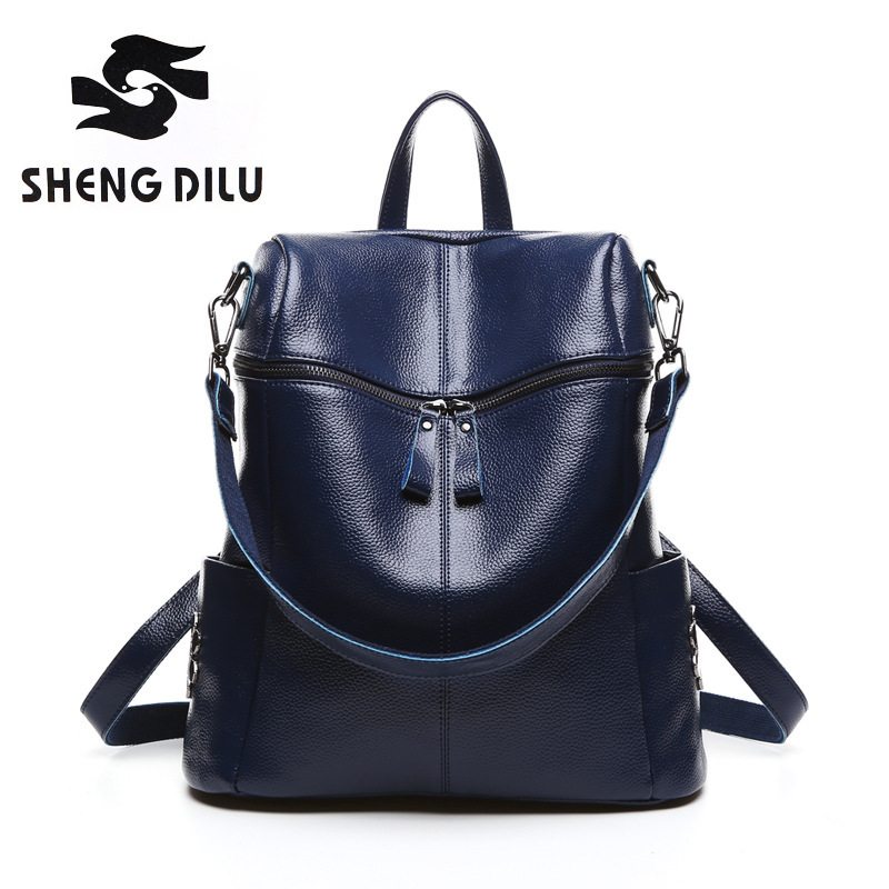 Famous Brand Women Backpack Luxury Designer Lady's Vintage Backpacks For Teenage Girls High Quality Real Leather Travel MBags student fashion high quality backpacks for teenage girls casual women backpack travel school bag ladies brand designer schoolbag