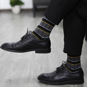 Image 5 - Match   Up ผู้ชายผ้าฝ้ายลายสก๊อตลายถุงเท้า Casual ถุงเท้าของขวัญถุงเท้า (5 คู่/ล็อต)