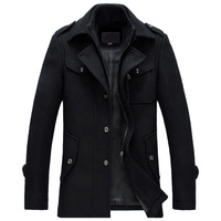 Winter Jacket Men Thickening Wool Coat Slim Fit Jackets Fashion Outerwear Warm Man Casual Jacket Overcoat
