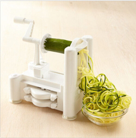 High Quality 1 Set Kitchen Tools Cooking Vegetable Tools Fruit Garnish Cutter Peeler Spiral Fruits Vegetable Curly Slicer