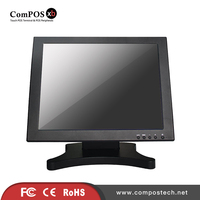 Free Shipping 15 Inch LCD Monitor With Touch Screen For Computer Display