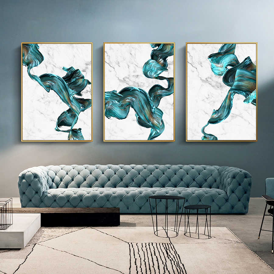 Cuadro Colorful Abstract Pictures Marble Canvas Wall Art Posters and Prints  Modern Fashion Art Paintings Home Wall Decoration