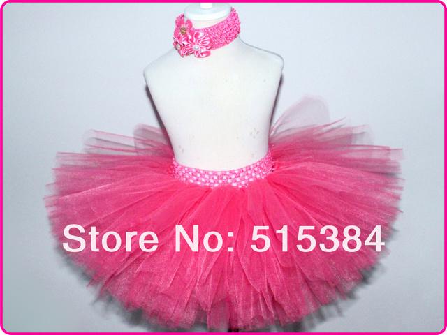 1 Unidades envío Gratis baby pink tutu falda 3 capas del tutú mullido falda para niños tutús con hermosas diademas muchos colores en stocks