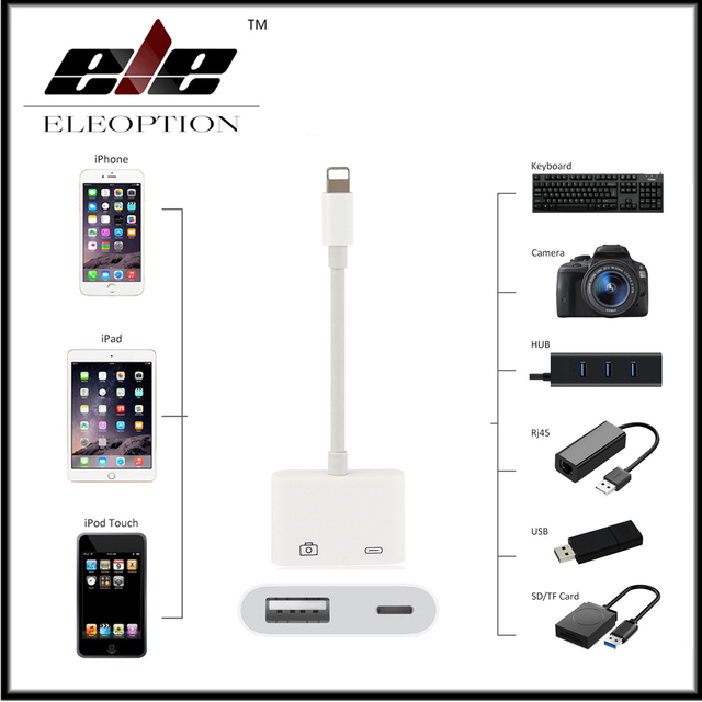 best service d9882 d9a00 US $17.49 50% OFF|For Mini Lightning to USB 3 Camera Reader Adapter for  iPhone X 8 5 5s 6 6s 7 7 plus for iPad Series-in USB Cables from Consumer  ...