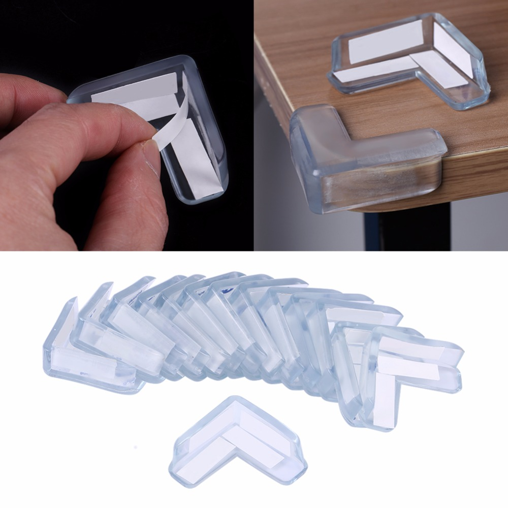 15Pcs/Set Baby Safety Transparent PVC Protector Table Corner Furniture Protection Cover Children Anticollision Edge Corner Guard(China)