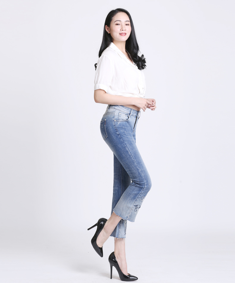 KSTUN Women Jeans with Emboridered Retro Blue Stretch Flare Pants Boot Cut High Waist Gloria Jeans Vintage Plus Size Femme Mujer 15