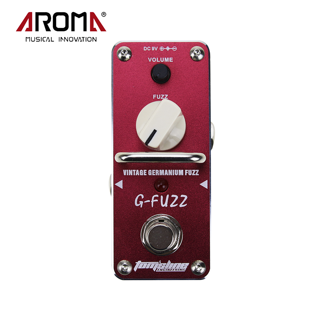 AROMA AGF-3 G-FUZZ Vintage Germanium Fuzz Guitarra Mini Analogue Guitar Effect Pedal With True Bypass aroma adr 3 dumbler amp simulator guitar effect pedal mini single pedals with true bypass aluminium alloy guitar accessories