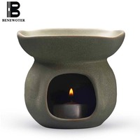 Handmade Ceramic Pottery Oil Aroma Burner Aromatherapy Lamps Candles Heating Incense Burner Natural Essential Oils Air