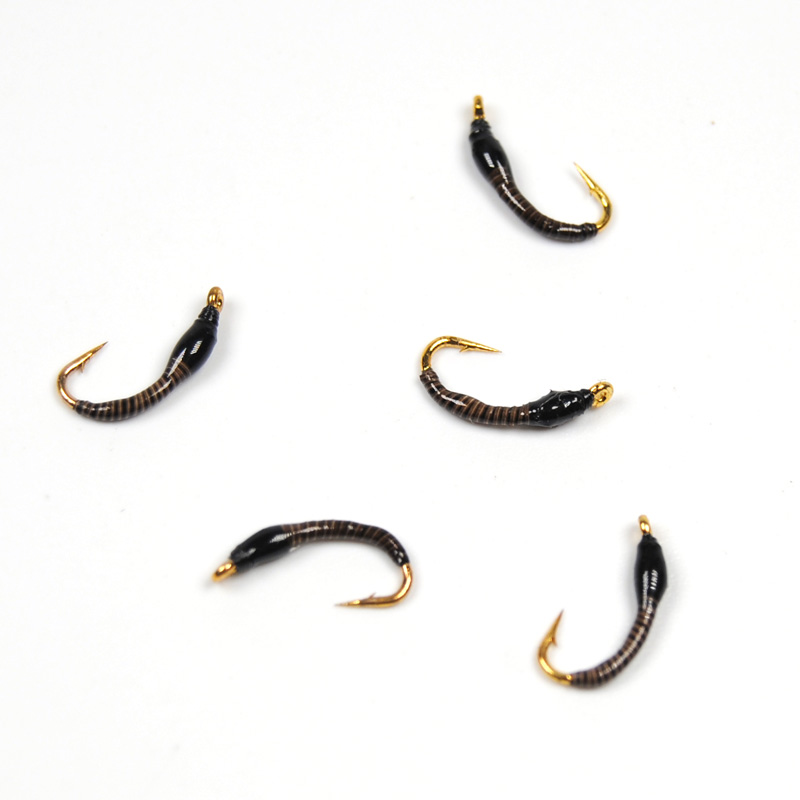 10PCS Peacock Quill Nymph Fly Buzzer Flies Natural Color Size 16 Fly Fishing Trout [12pcs] 12 caddis larva chironomid midge pupa buzzer zebra nymph trout flies fly fishing hook black red orange