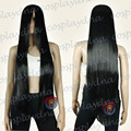 TLD044 40 inch Hi_Temp Series Black Long Cosplay DNA Wigs