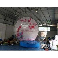 3 м Диаметр 0,8 мм прозрачный ПВХ крупного плана мяч надувной круглый воздушные шары для рождественские украшения рекламы с воздуходувки